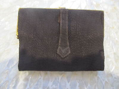 1920s Handbags, Purses, and Shopping Bag Styles  1920'S VINTAGE EVENING CLUTCH, PURSE textured silk Brown ,change purse $15.00 AT vintagedancer.com