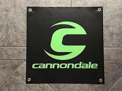 Cannondale banner sign shop wall garage mountain bike biking cycling trail MTB