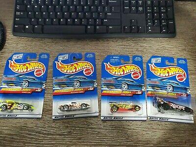 Hot Wheels Mega Graphics Series-Complete Set 4 of 4-Funny Car, Mustang,Firebird