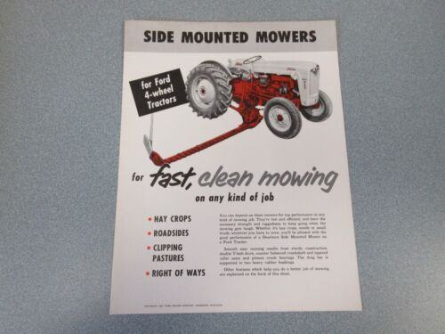 Ford Side Mounted Mowers Sales Sheet  1955                 lw
