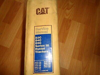 Caterpillar D3c D4c D5c Series Iii Hystat Tractors Factory Service Manual Oem