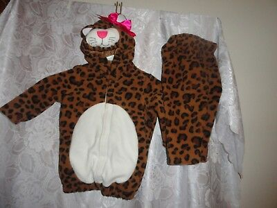 TODDLER GIRL'S 2 PIECE LEOPARD HALLOWEEN COSTUME FROM OLD NAVY-SIZE 12-24 MONTHS