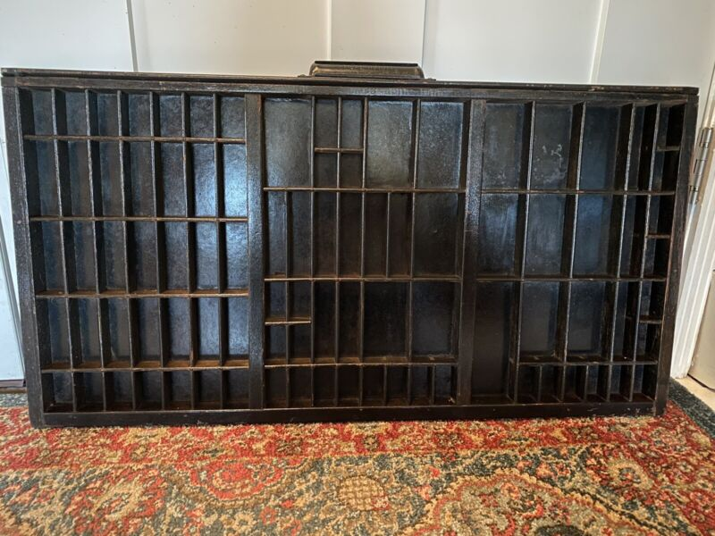 Old Wooden Printer Tray