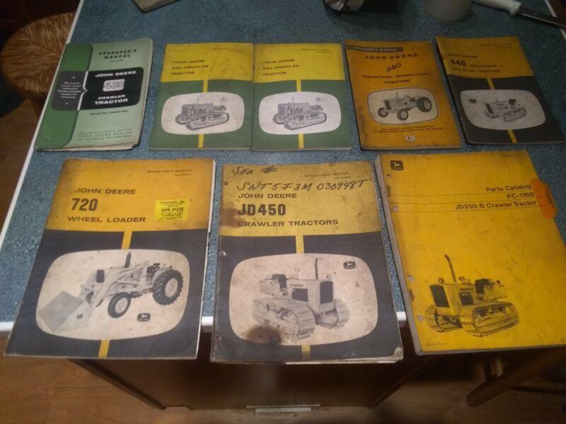 Lot 8 Old Vintage John Deere Tractor Manuals Catalogs MCM Farmer Farm Moline WI