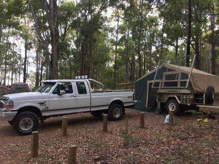2009 Trak Shak Camper Trailer, w/ground level pickup boat carrier