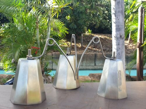 3 Octagon Fishing Bells, Stainless Steel, LOUD & HIGH PITCH, 0.035 inches