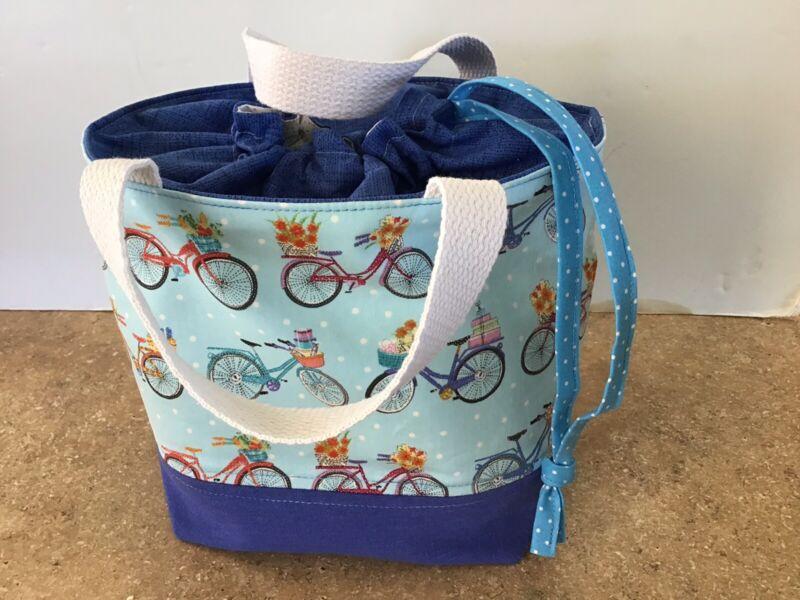 MEDIUM Drawstring Knitting/Crochet/Craft Project Bag