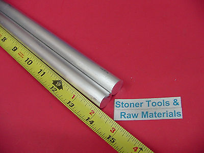 2 Pieces 58 Aluminum 6061 Round Rod 14 Long T6511 .625 Solid Lathe Bar Stock