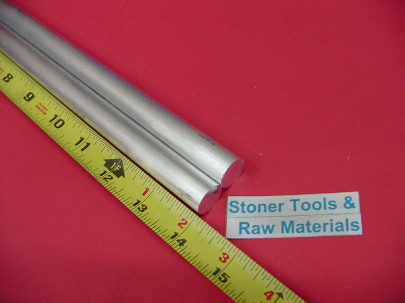 """2 pieces 5/8"""" ALUMINUM 6061 ROUND ROD 14"""" LONG T6511 .625 Solid Lathe Bar Stock"""