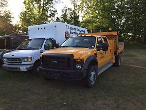 F550  Power Stroke Turbo Diesel Dump Truck With Tool Box