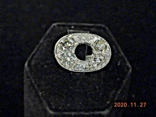 ESTATE PLATINUM RING MOUNTING WITH DIAMONDS     NR