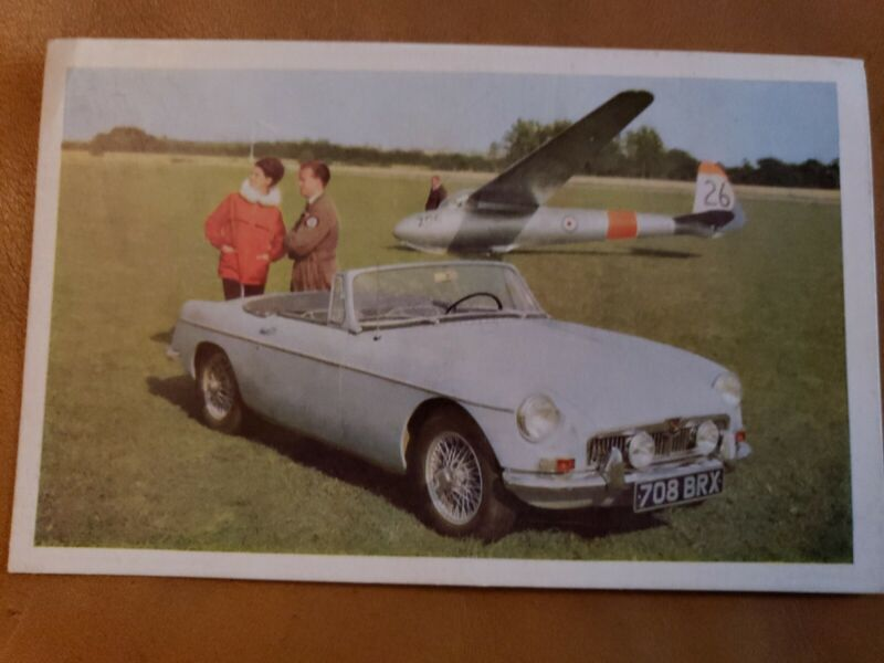 """Vintage 1966 MG """"MGB"""" Automobile Post Card Uncirculated clean"""