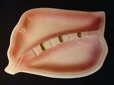 Pink Ceramic Ashtray Cigar Cigarette Smoke - Vintage MCM Retro - Made in Japan