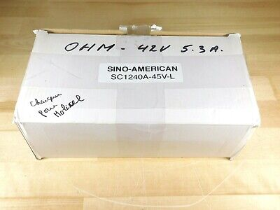 Brand New - Sino-american Model Sc1240a-45v-l Ebike Battery Charger 42v 5.3a