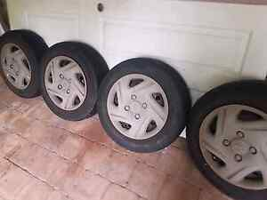4 x wheels 4 stud & tyres Gray Palmerston Area Preview