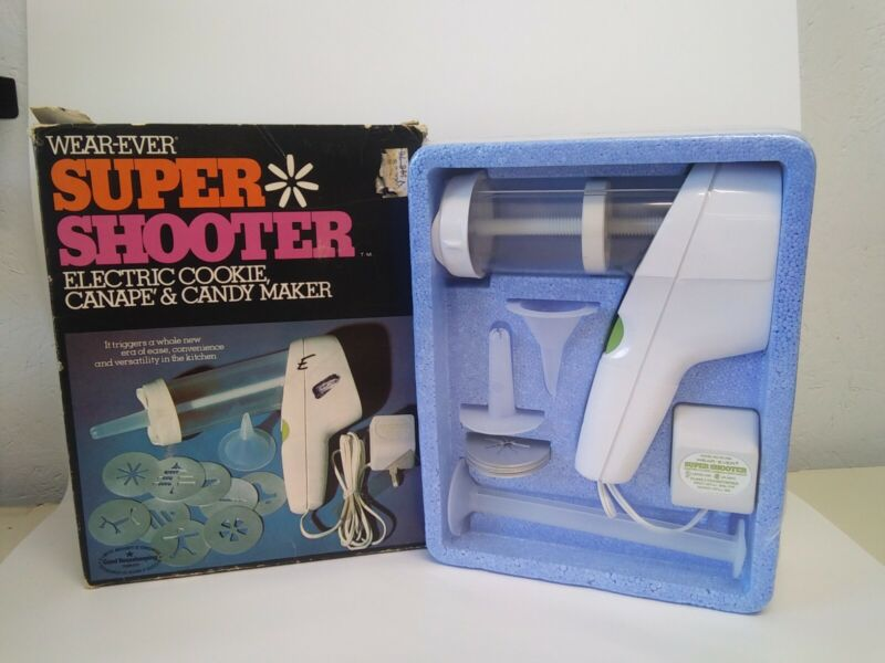 Vintage Wear-Ever Super Shooter Electric Cookie, Canape & Candy Maker NEW