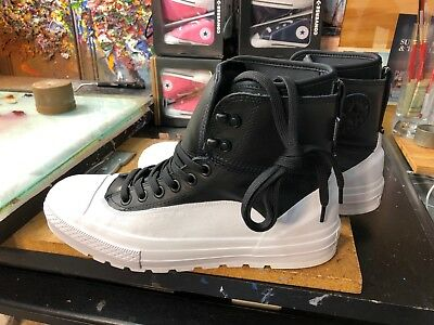 Converse CTAS Tekoa HI Black/White US 9.5 Men 153657C Waterproof Chuck Taylor