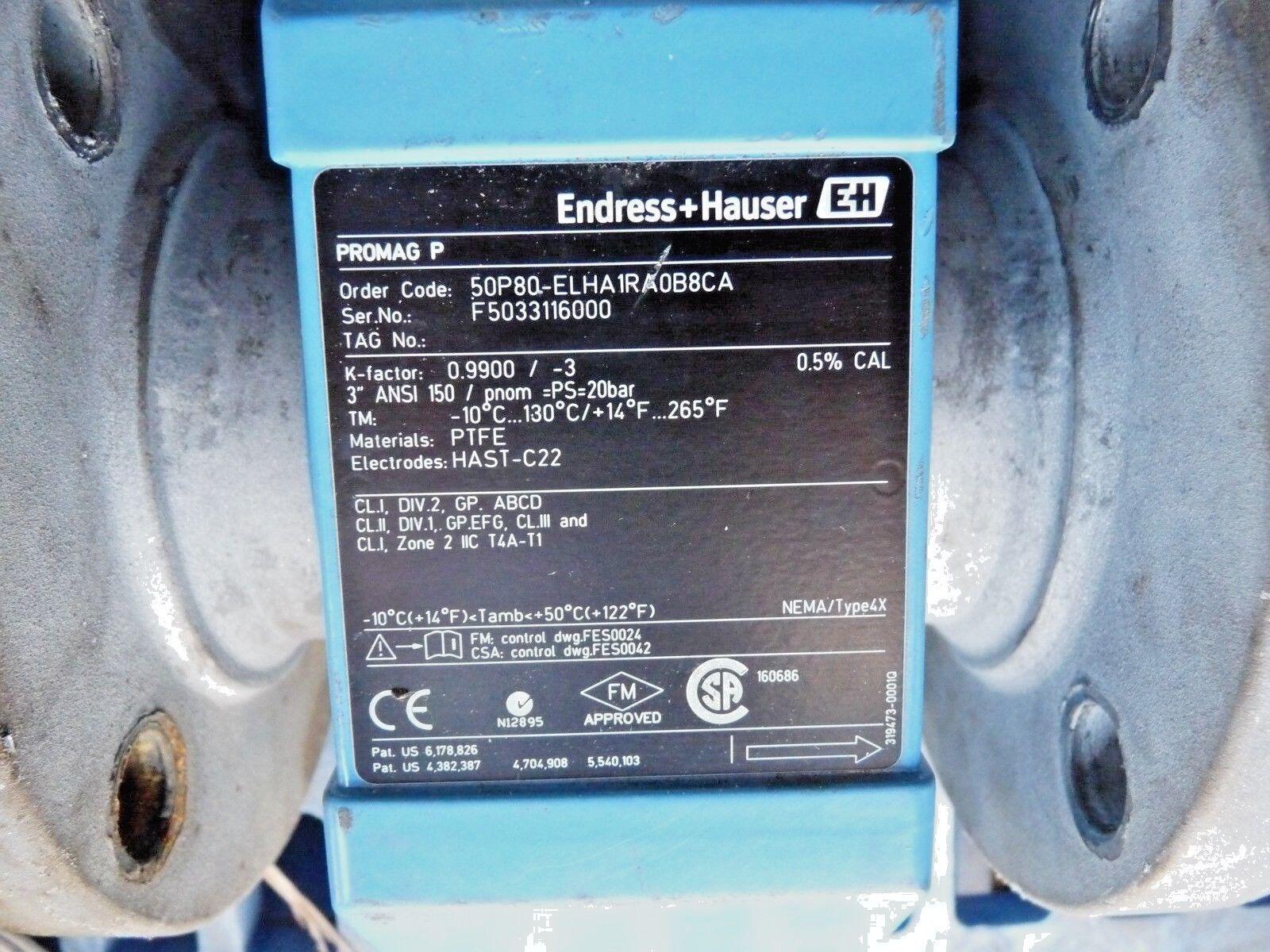 ENDRESS + HAUSER PROMAG 50P 50P80-ELHA1RA0B8CA ELECTROMAGNETIC FLOWMETER    Shopping Bin - Search eBay faster