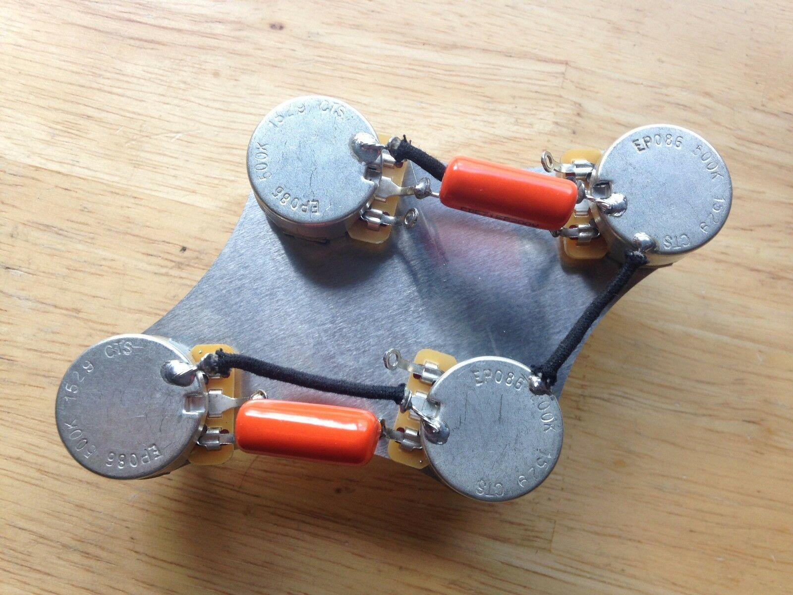 50s Wiring Harness Gibson Epiphone Les Paul 500k Cts Pots 047 Pre Wired Orange Drop Cap 2 Of 4
