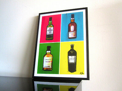 Whisky Pop Art - Macallan Lagavulin Balvenie Laphroaig Decor Gastro Urban Bottle segunda mano  Embacar hacia Argentina