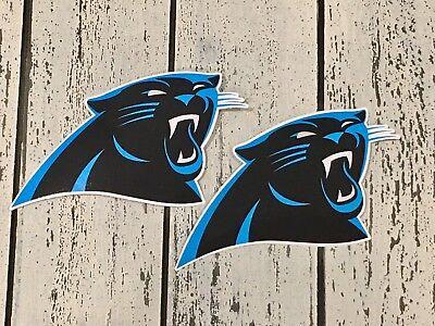 2x Carolina Panthers Car Bumper Laptop Window Vinyl Die Cut Stickers Decals