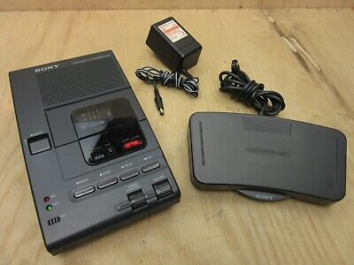 Sony M2000 Microcassette Transcriber With Foot Pedal Ac Adapter