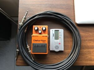 Boss DS1 Distortion Pedal & Cables