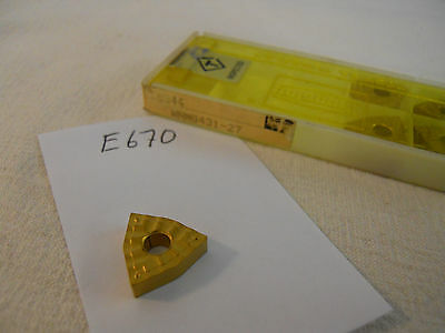 5 New Tungaloy Wnmg 431-27 Carbide Inserts. Grade T7025 E670