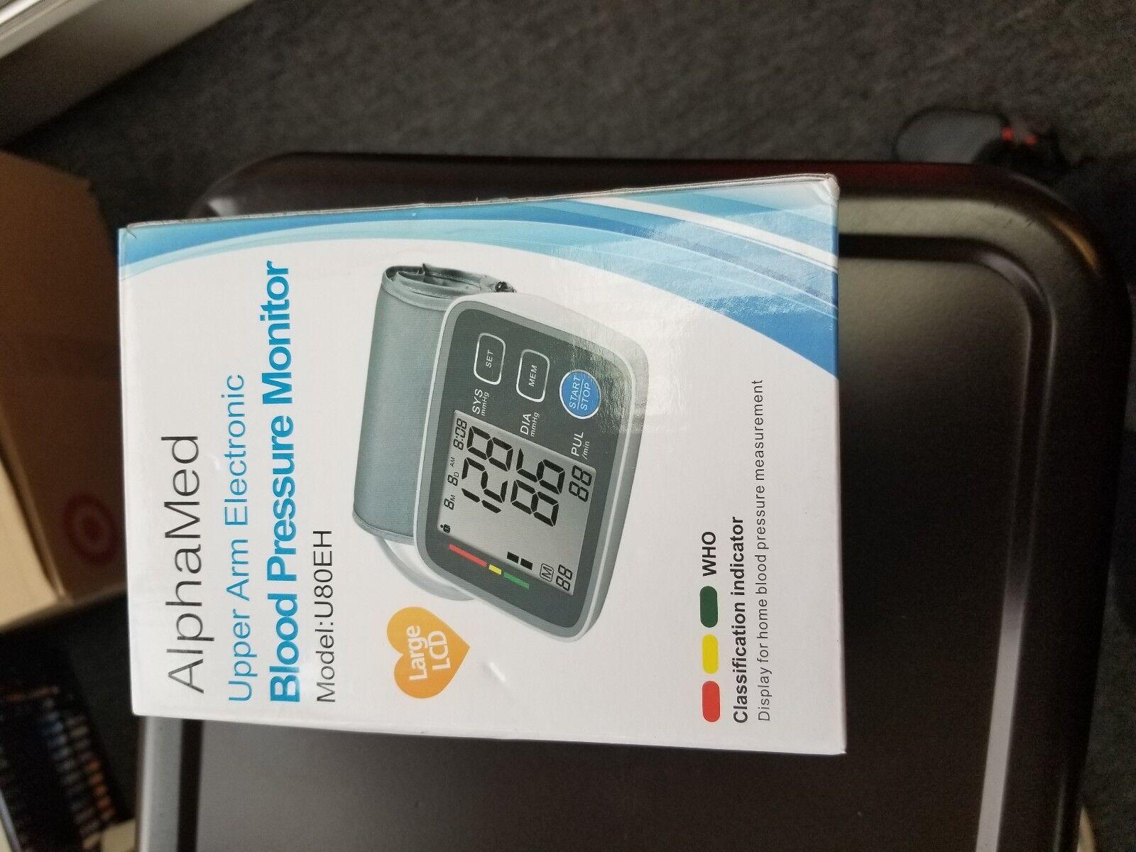 AlphaMed upper Arm Electronic blood pressure monitor model U