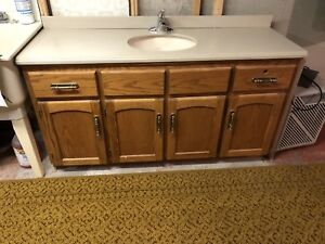 Bathroom Cabinet-sink and taps