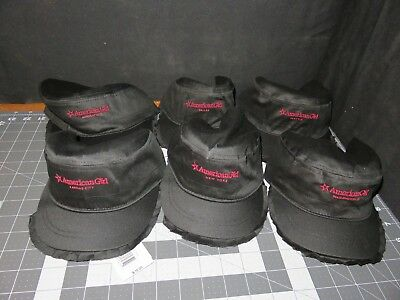 NOS Party Pack of 26 American Girl Black Ruffle Brim Cap Hat for Girls 6 City's