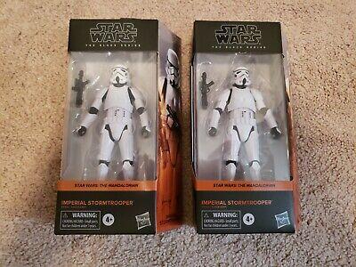 Star Wars Black Series Imperial Stormtrooper Mandalorian Figure Lot of 2 NEW