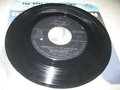 BROOK BENTON WALK ON THE WILD SIDE / SOMEWHERE IN THE 45 VG+ Mercury 71925