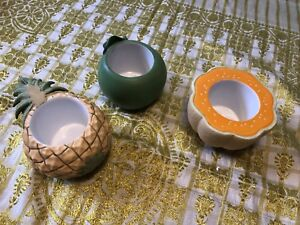 Trio bougeoirs fruits Partylite
