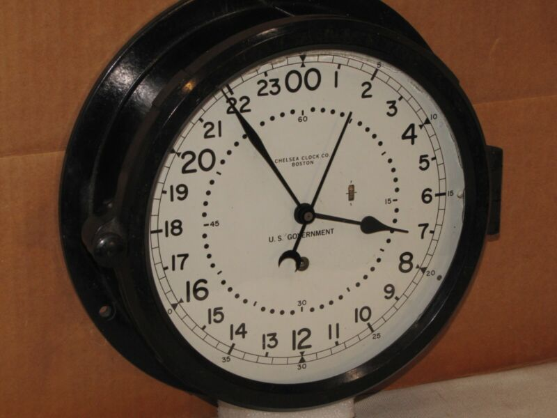 "CHELSEA U.S.AIR FORCE CLOCK~8 1/2"" DIAL~MISSILE SILO?~1963~24 HR DIAL"