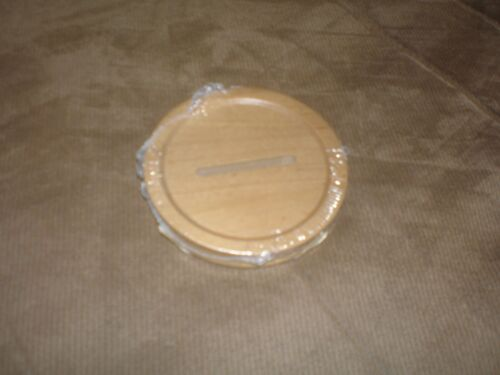 Longaberger 2003 Blue Ribbon Pride Woodcrafts Bank Lid - Warm Brown