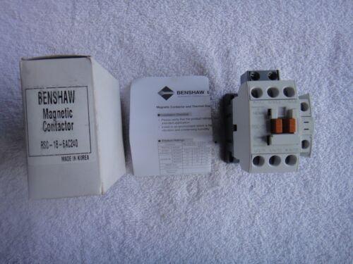 NIB Benshaw Magnetic Contactor 240V 60Hz       RSC-18-6AC240