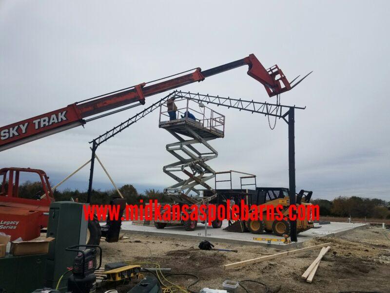 Pole barn steel frame kit 40x60x14