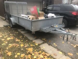 16x6 galvanized atv /snowmobile trailer
