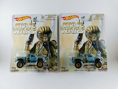 Hot Wheels Pop Culture Star Wars Chevy Silverado Off Road  Lot of 2