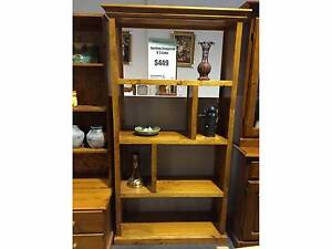 STAGGERED SOLID TIMBER CUBE/BOOKSHELF/DISPLAY SHELF IN BLACKWOOD Ravenhall Melton Area Preview