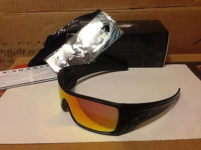 NEW Oakley Batwolf Sunglasses, Matte Black Ink / Ruby Iridium, OO9101-38