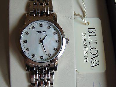 Bulova Women's 27mm Mother of Pearl w/ 12 Diamond Dial Stainless Steel  Watch