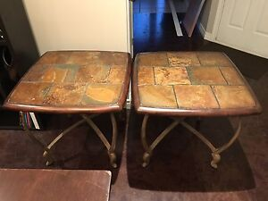2 Slate End Tables