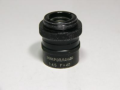 Microscope Objective Microplanar F40 145 High Resolution Lens Lomo Factory