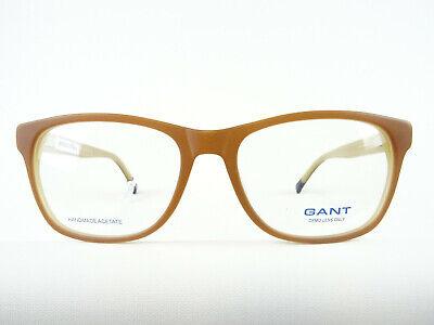 Hellbraune GANT Brille Kunststoffgestell Fassungen für große Gesichtsform Gr. L