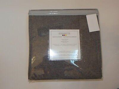 Dormisette Luxury German cotton Flannel Queen Duvet Shams Set Charcoal Grey