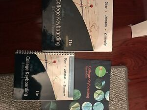 College keyboarding textbooks, not used brand new