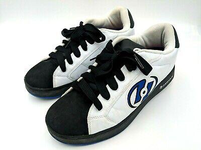 Heelys Mens Lace Up Shoes White Black Blue Style 7224 Sz 12