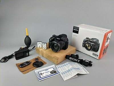 Sony Cyber-shot DSC-H400 20.1MP Digital Camera - BOXED +2 Batteries +Accessories